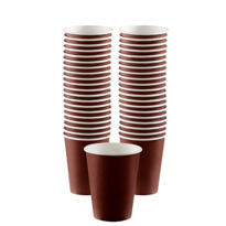 Chocolate Brown Paper Coffee Cups 12oz 40ct