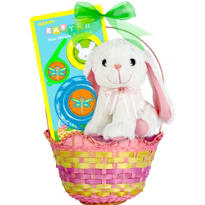 Premade White Bunny Easter Basket 15in