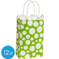 Kiwi Dot Mini Gift Bag 12ct