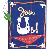 Western Wrangler Invitations 8ct