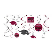 Berry Graduation Swirl Decorations 12ct