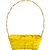 Yellow Bamboo Easter Basket