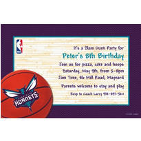 Charlotte Hornets Custom Invitation