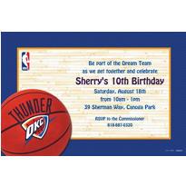 Oklahoma City Thunder Custom Invitation