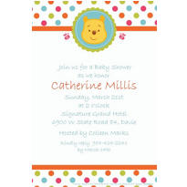 Custom Winnie the Pooh Baby Shower Invitations