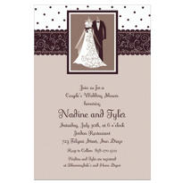 Black & White Wedding Custom Invitation