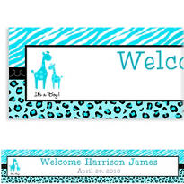 Blue Safari Custom Banner 6ft