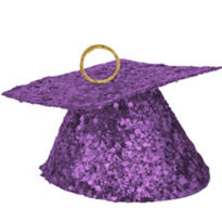 Purple Glitter Graduation Balloon Weight 6oz