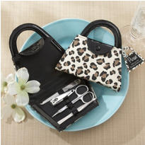 Cheetah Purse Manicure Set
