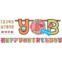 Add an Age Hippie Chick Birthday Banner 10ft