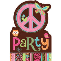 Hippie Chick Invitations 8ct