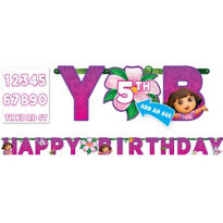 Add and Age Dora the Explorer Letter Banner 10ft