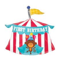 Foil Fisher Price 1st Birthday Balloon 23in