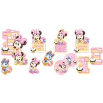 1st Birthday Minnie Mouse Cutouts 12ct