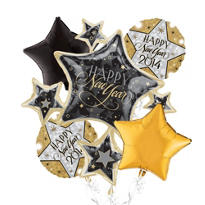 Star Cluster New Years Balloon Bouquet 5pc