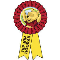 Pooh and Pals Award Ribbon