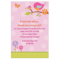 Tweet Baby Girl Custom Invitation