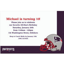 New England Patriots Custom Invitation