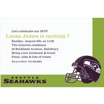 Seattle Seahawks Custom Invitation