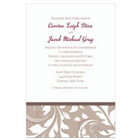 Silver Custom Wedding Invitation
