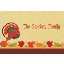 Thanksgiving Holiday Custom Thank You Note