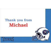 Tennessee Titans Custom Thank You Note
