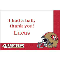 San Francisco 49ers Custom Thank You Note