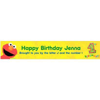 Elmo 1st Birthday Custom Banner 6ft