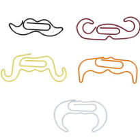 Moustache Clips 5ct