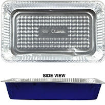 Blue Aluminum Full Chafing Dish Steam Pan