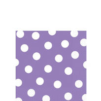 Lilac Polka Dot Beverage Napkins 16ct