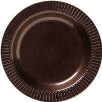 Chocolate Brown Premium Plastic Dinner Plates 16ct