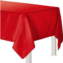 Apple Red Fabric Tablecloth