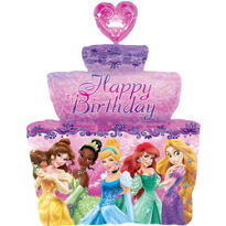 Disney Princess Balloon - Birthday Cake