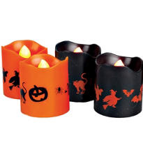 Halloween Flamless Votive Candles 4ct