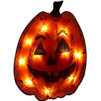 Light-Up Shimmer Jack-o-Lantern 16in