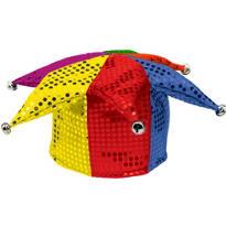 Rainbow Sequined Jester Hat