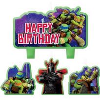 Teenage Mutant Ninja Turtles Birthday Candles 4ct