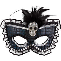 Skull Feather Mask