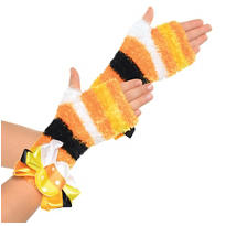 Child Candy Corn Fairy Fingerless Gloves