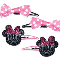 Minnie Mouse Hair Clips 4ct