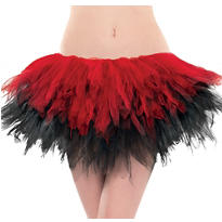 Adult Black and Red Handkerchief Tutu