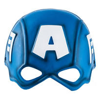 Child Plastic Captain America Mask