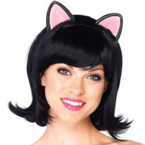 Black Kitty Cat Bob Wig
