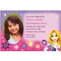 Tangled Custom Photo Invitation