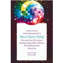Disco Fever Custom Invitation