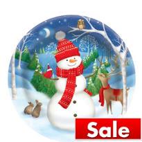 Snowman Plastic Plate