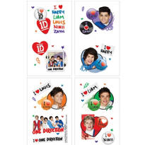 One Direction Tattoos 1 Sheet