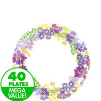 Floral Bloom Dessert Plates 40ct