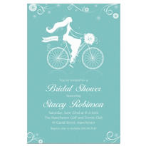 Chapel Bicycle Custom Bridal Shower Invitation